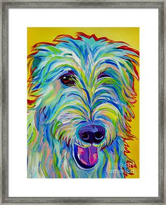 Irish Wolfhound - Angus Framed Print by Alicia VanNoy Call