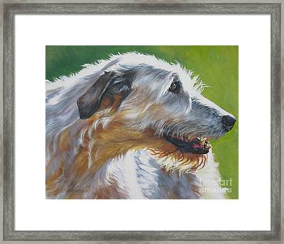 Irish Wolfhound Beauty Framed Print by L A Shepard