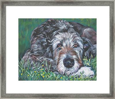 Irish Wolfhound Framed Print by Lee Ann Shepard