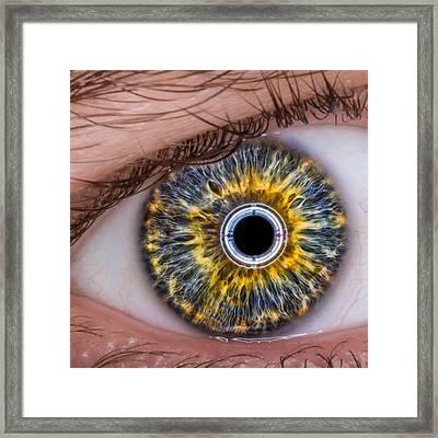 iRobot Eye v2.o Framed Print by TC Morgan