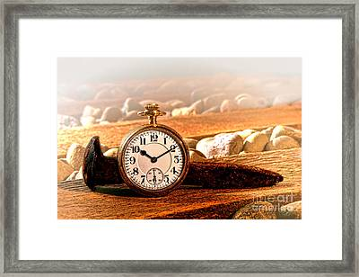 Iron And Gold Framed Print by Olivier Le Queinec