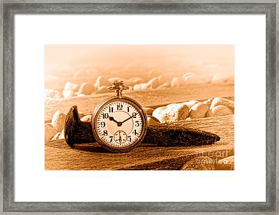 Iron And Gold - Sepia Framed Print by Olivier Le Queinec