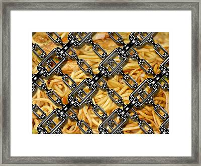 Iron Chains With China Noodles Framed Print by Miroslav Nemecek