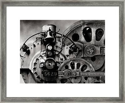 Iron Circles No. 1 Framed Print by Joe Bonita