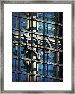 Iron Heart Framed Print by Lori Seaman