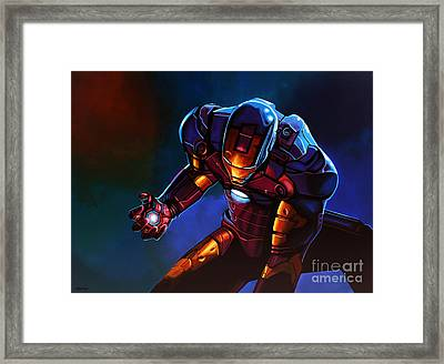Iron Man Framed Print by Paul Meijering