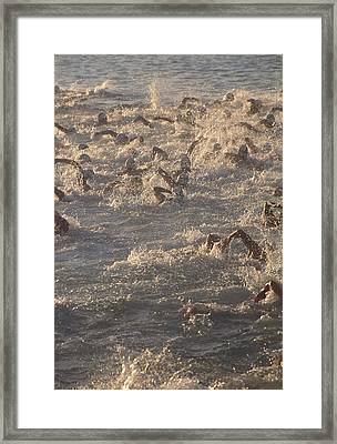 Ironman Triathlon Framed Print by G. Brad Lewis