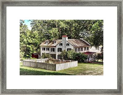 Ironmaster Mansion At Hopewell Furnace  Framed Print by Olivier Le Queinec