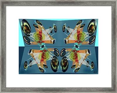 Irregular Mirrored Watches Framed Print by Helmut Rottler