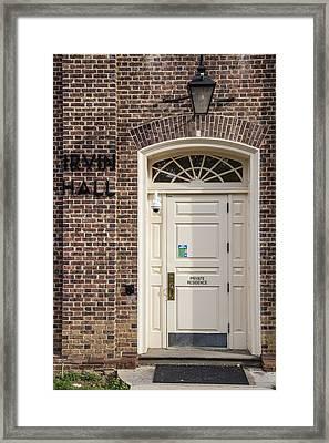 Irvin Hall Penn State  Framed Print by John McGraw