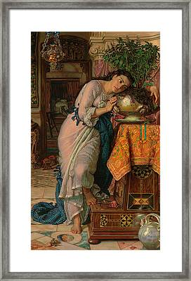 Isabella And The Pot Of Basil Framed Print by William Holman Hunt
