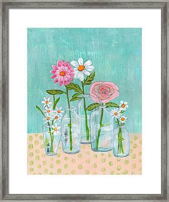 Isabella Rose Flowers Framed Print by Blenda Studio