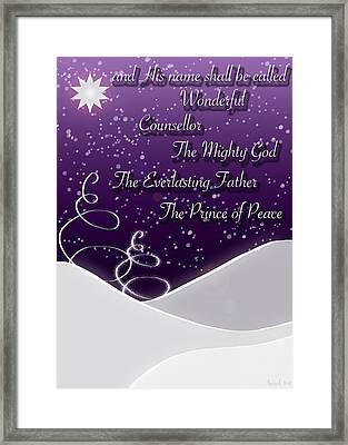 Isaiah Chapter 9 Verse 6 Christmas Card Framed Print by Lisa Knechtel
