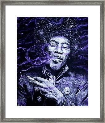 I S C M- Purple Haze Framed Print by Soler Art