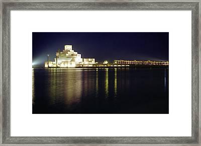 Islamic Museum At Night Framed Print by Paul Cowan