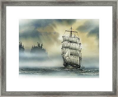 Island Mist Framed Print by James Williamson