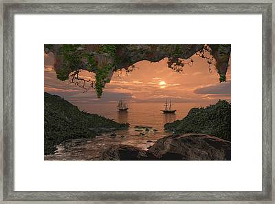 Island Retreat Framed Print by Mary Almond