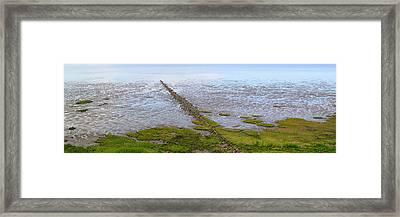 Island Sylt - Mudflat Framed Print by Marc Huebner