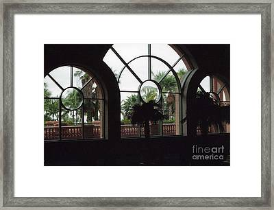 Island Windows With A Beautiful View Framed Print by Kay Novy