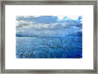 Islands In The Distance Framed Print by Ashish Agarwal
