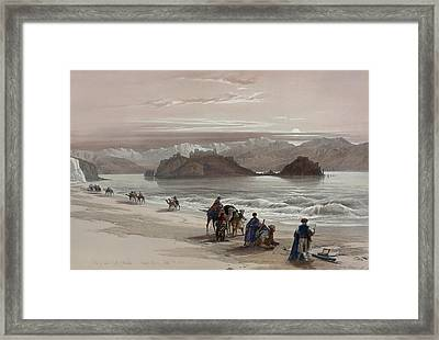 Isle Of Graia Gulf Of Akabah Arabia Petraea Framed Print by David Roberts