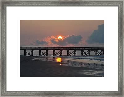 Isle Of Palms Sunrise  Framed Print by Sabrina  Hall