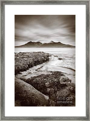 Isle Of Rum From Laig Bay Isle Of Eigg Framed Print by John Potter