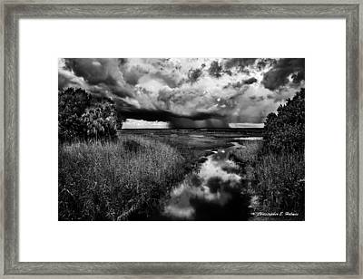 Isolated Shower - Bw Framed Print by Christopher Holmes