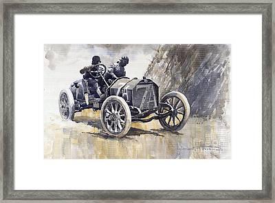 Isotta Fraschini 50hp 1908 Targa Florio  Framed Print by Yuriy  Shevchuk