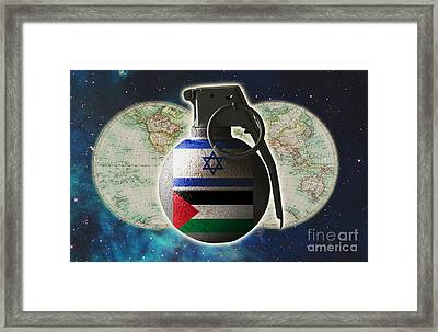 Israel And Palestine Conflict Framed Print by George Mattei