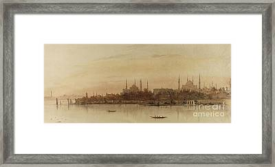 Istanbul Framed Print by Alfred de Courville