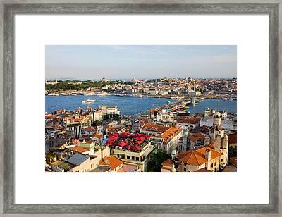 Istanbul Cityscape Framed Print by Artur Bogacki