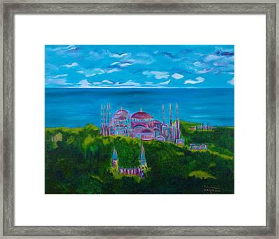 Istanbul Skyline Framed Print by Dani Altieri Marinucci