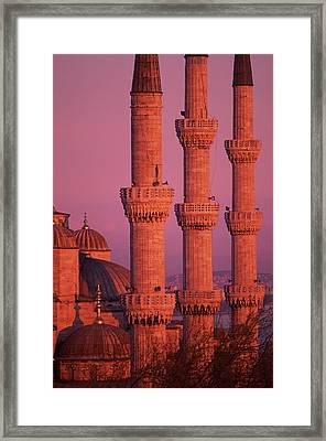 Istanbul, Turkey, Blue Mosque Framed Print by Grant Faint