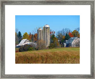 It Is The Quiet Autumn Life  Framed Print by Tina M Wenger
