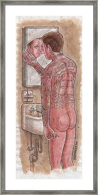 It Started Off A Normal Day A Self Portrait Framed Print by David Shumate