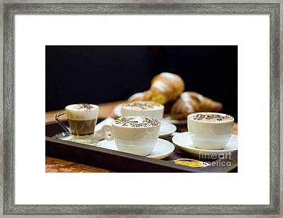 Italian Breakfast Framed Print by Andre Goncalves