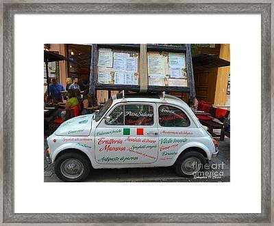 Italian Car- 500 Cinquecento Framed Print by Italian Art