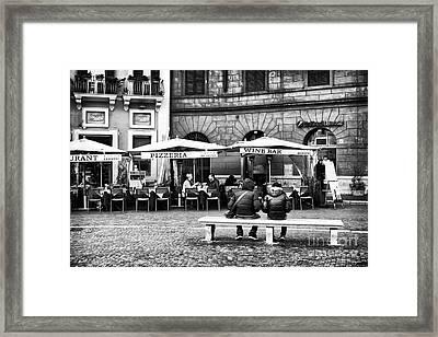 Italian Dining Framed Print by John Rizzuto