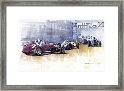 Italian Gp1937 Livorno  Framed Print by Yuriy  Shevchuk