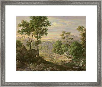 Italian Landscape Framed Print by Joachim Faber