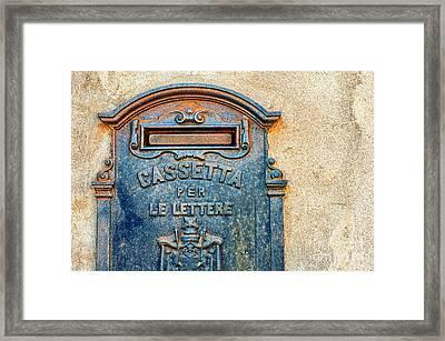 Italian Mailbox Framed Print by Silvia Ganora