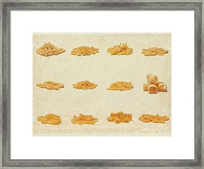 Italian Pasta Framed Print by Gualtiero Boffi
