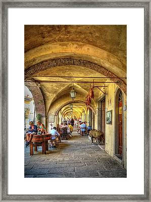 Italian Portico Framed Print by Robert Murray