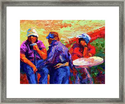 Italian Retirement Framed Print by Marion Rose