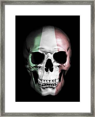 Digital Manipulation Framed Print featuring the digital art Italian Skull by Nicklas Gustafsson