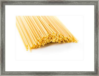 Italian Spaghetti Extruded Through Bronze  Framed Print by Alain De Maximy