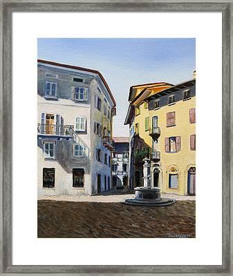Italian Street Framed Print by Paul Walsh