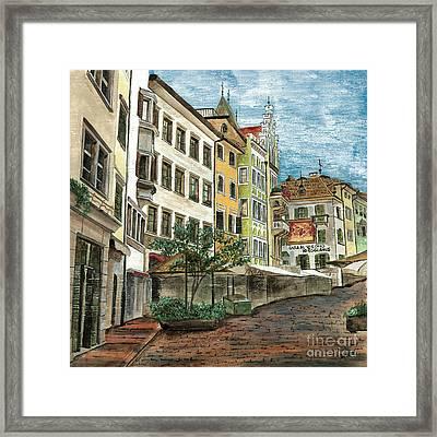 Italian Village 1 Framed Print by Debbie DeWitt