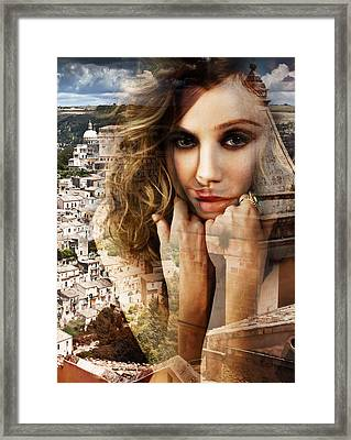 Francesca In Her Thoughts Framed Print by Maciej Mackiewicz